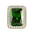 Emerald Green Solitaire Ruby 14K Gold Finish Lab Diamonds Ring