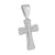 Cross Jesus Crucifix Pendant Lab Diamonds White Rhodium Finish