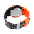 Mens Shock Resistant Watches Orange Black Analog-Digital Alarm