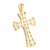 Yellow Gold Finish Lab Diamond Sterling Silver Cross Pendant