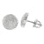 White Gold Finish Earrings Round Shape