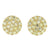 Yellow Gold Finish Round Cluster Lab Diamond 925 Silver Earrings
