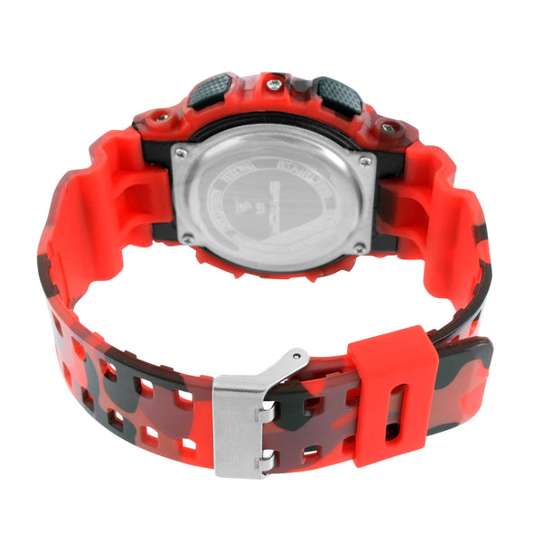 Red Military Style Men Watch Shock Resistant