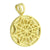 Egyptian Pharaoh Round Canary Pendant 14K Yellow Gold Finish With Chain