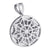 Egyptian Pharaoh White Pendant Simulated Diamonds Mens
