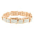 Mens Bracelet 14K Rose Gold Finish Simulated Diamonds Micro Pave