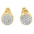 Lab Diamond Sterling Silver Yellow Gold Finish Earring