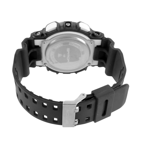Shock Resistant Watch Black Blue Analog-Digital Silicone Day Date