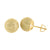 14k Gold Finish Earrings Round Disco Ball Design