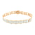 Round Cut Design Bracelet 14K Rose Gold Finish