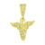 Praying Angel Design Pendant Canary Simulated Diamonds 14K Gold Finish