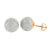 Rose Gold Finish Earrings Screw Back Mens Ladies Round 3D