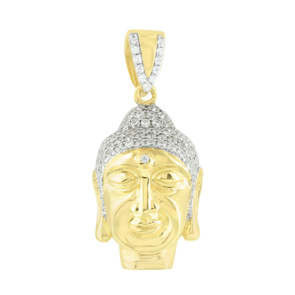 Buddha Pendant 14K Gold Tone Over Sterling Silver