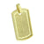 Dog Tag Pendant Simulated Diamonds Micro Pave Set 14K Yellow Gold Finish