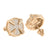 Mens Round Earrings Rose Gold Finish Screw On