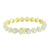 Round Solitaire Link Bracelet 14K Yellow Gold Finish