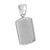 White Dog Tag Pendant Simulated Diamonds Iced Out XmasDeal