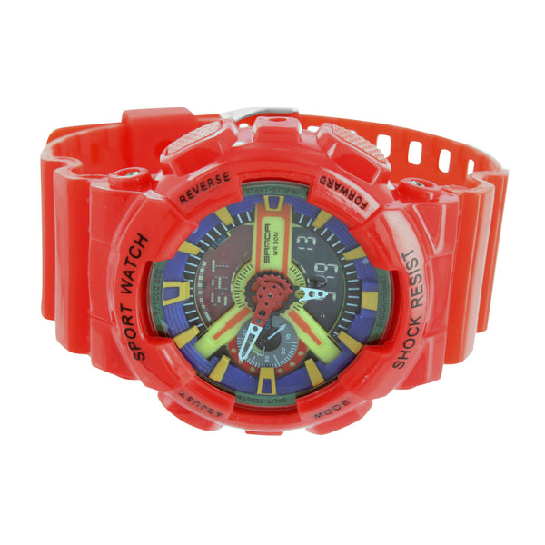 Sport Watch Special Edition Analog Digital Multi Color Dial