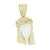 Jesus Ceramic Look Pendant 2 Tone Finish