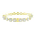 14K Gold Finish Bracelet Round Solitaire Cut Lab Diamonds