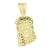 Jesus Pendant 14k Yellow Gold Finish Enamel Face