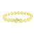 Canary Solitaire Bracelet Lab Diamonds 14K Yellow Gold Finish