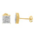 Lab Diamond Yellow Gold Finish Silver Square Earrings