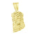 Christ Charm Gold Finish Sterling Silver