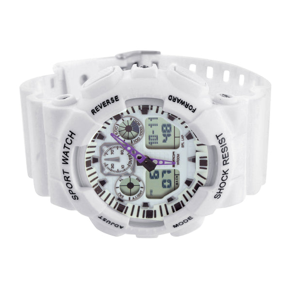White Shock Resistant Watch Mens
