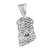 Jesus Pendant Sterling Silver Simulated Lab Diamond