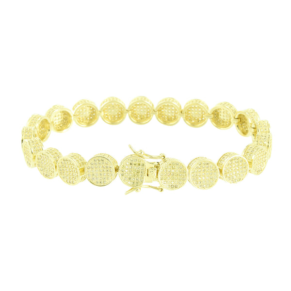 Round Link Design Bracelet Canary Lab Diamonds