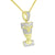Queen Nefertiti Pendant With Chain