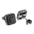 925 Sterling Silver Black Gold Finish Black Lab Diamond Earrings