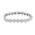 White Lab Diamond Bracelet Round Link