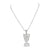 Nefertiti Pendant Mens Charm Simulated Diamonds Steel Bead Necklace
