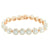 Round Link Solitaire Bracelet 14K Rose Gold Finish