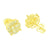 Gold Finish Cluster Earrings Yellow Screw Back Round Design