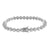 Ladies Solitaire Link Bracelet Round Cut Lab Diamond White Gold Finish