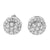 New  Cluster Lab Diamond Round 925 Silver Earrings