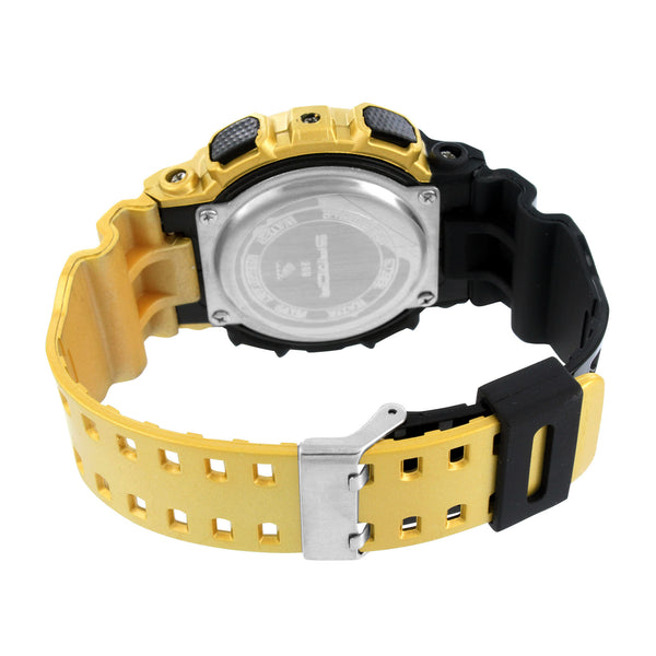Mens Watches Gold And Black Color Water Resist Analog-Digital