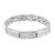 White Rhodium Finish Bracelet Micro Pave Mens Designer
