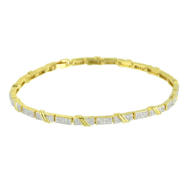 Womens Bracelet 14K Gold Finish Lab Diamond Gorgeous Designer