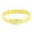 Mens Bracelet 14K Yellow Gold Finish Canary Simulated Diamonds