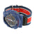 Navy Blue & Red Canvas Fabric Band Wristwatch for Men / Boys