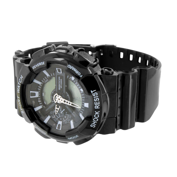 Shock Resistant Watches All Black Mens Sports Design