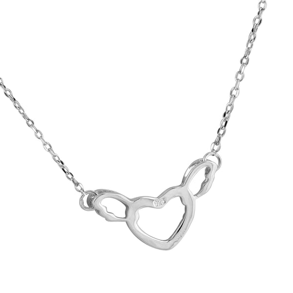 Womens Heart Love Pendant Necklace