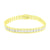 Mens 14k Yellow Gold Finish Bracelet Simulated Diamonds