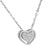 Ladies Heart Pendant Necklace Set