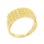 Sterling Silver 4 Row Mens Wedding Band Simulated Diamond Canary Finish Over 925