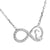 Womens Infinity Heart Charm Chain